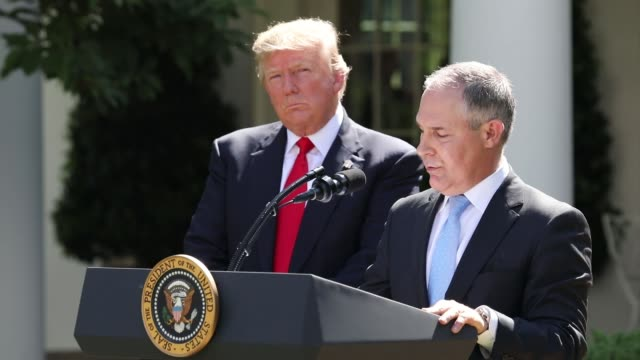 Scott Pruitt EPA Administrator spoke after President Trump made the statement that the United States is withdrawing from the Paris Climate Accord in...