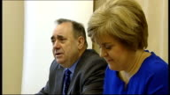 Scottish cabinets held in Aberdeen SCOTLAND Aberdeen Portlethen Parish Church INT Alex Salmond MSP and Nicola Sturgeon MSP with Scottish cabinet...