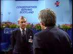 Scottish Conservatives Conference **** FOR SCOTLAND Perth Conference hall interior New portrait of PM Margaret Thatcher John MacKay interview SOF...