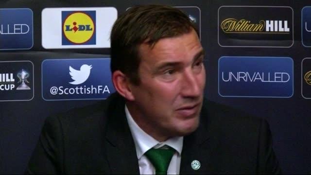 Rangers beat Hibernian INT Alan Stubbs press conference SOT