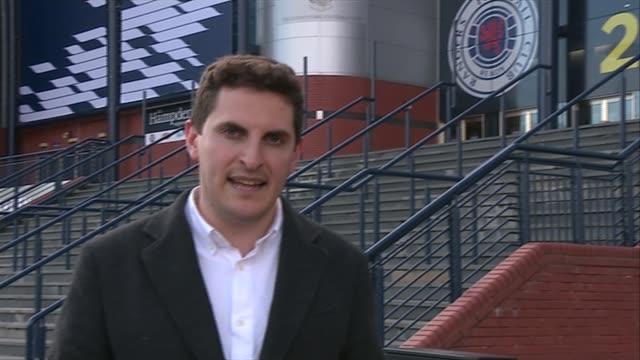 Rangers beat Hibernian Reporter to camera