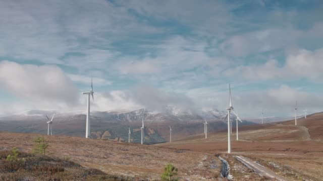Scottish Highlands Windmills Timelapse