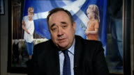 Cameron and Miliband united in opposition to independence ENGLAND London GIR INT Alex Salmond MSP 2WAY interview ex Edinburgh SOT object to this...
