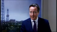 David Cameron interview SCOTLAND Aberdeen INT David Cameron MP interview SOT re NORTH SEA OIL REVENUES Yes everyone has had a good deal North Sea oil...