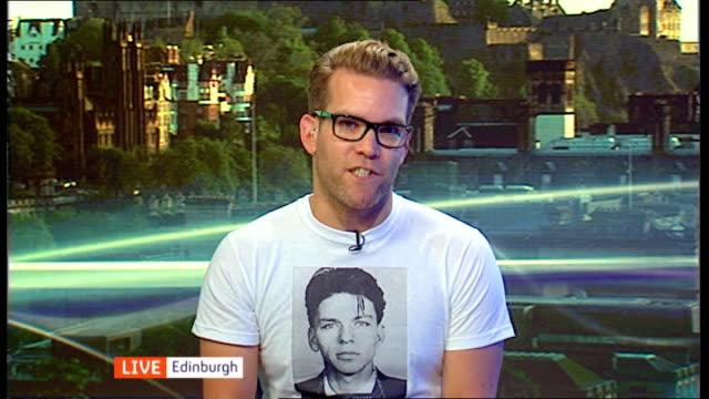 MC Saatchi tackles 'no' advertisement campaign SCOTLAND Edinburgh INT David Torrance LIVE interview EX Edinburgh SOT Talks of the implications of the...