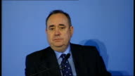 Alex Salmond press conference ** BEWARE Alex Salmond MSP press conference on Scotland's Referendum plans SOT