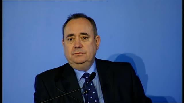 Alex Salmond press conference ** BEWARE Alex Salmond MSP press conference on Scotland's Referendum plans SOT