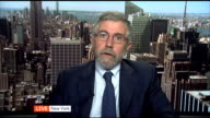 Currency debate ENGLAND London / USA New York Washington DISCO with Professor Paul Krugman SOT and Professor Andrew HughesHallett SOT
