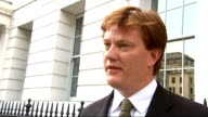 Danny Alexander interview Douglas Alexander interview SOT / Alexander away
