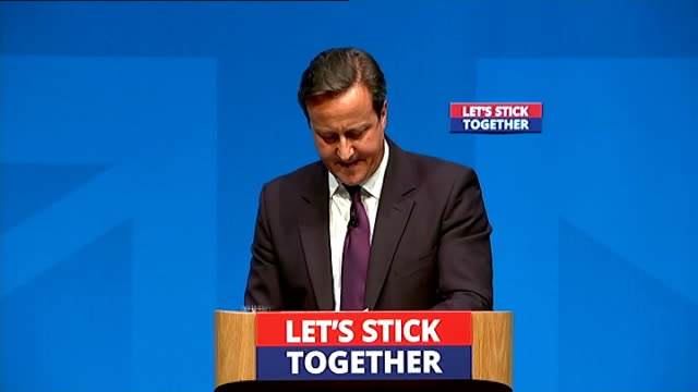 David Cameron speech Cameron speech SOT