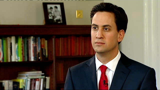 Ed Miliband interview ENGLAND London INT Ed Miliband MP interview SOT