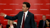Ed Miliband speech Miliband speech SOT Contract with people of Scotland that next Labour government will implement abolishing zero hours contracts...