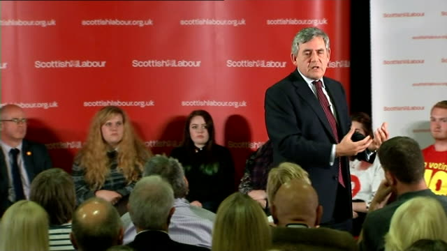 Gordon Brown speech in Loanhead Brown speech SOT