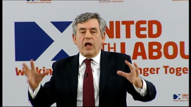 Gordon Brown speech SCOTLAND Glasgow PHOTOGRAPHY *** Gordon Brown speech SOT