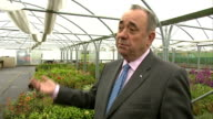interview Alex Salmond SCOTLAND Aberdeen INT Alex Salmond MSP interview on single market Cameron business uncertainties SOT