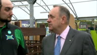 interview Alex Salmond Various shots of Salmond being shown around garden centre