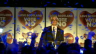 No campaign wins / Alistair Darling speech Music fireworks and tickertape at end of speech NATSOT