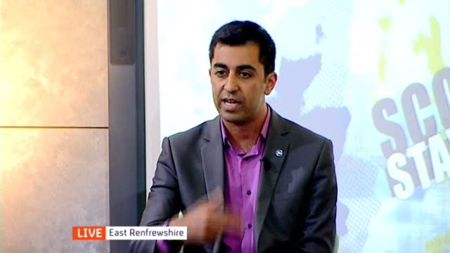 Views of 16 and 17 year olds SCOTLAND East Renfrewshire INT LIVE debate with panel of young voters and Humza Yousaf MSP SOT and Jenny Marra MSP SOT