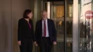 Scottish Labour leader Kezia Dugdale resigns LIB / Edinburgh Scottish Parliament PHOTOGRAPHY** Jeremy Corbyn MP and Kezia Dugdale MSP out of building...