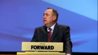 Alex Salmond speech SCOTLAND Perth INT Nicola Sturgeon MSP introduction speech SOT Alex Salmond along to podium Alex Salmond speech SOT DELIVERY**...