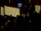 Scottish Nationalist party conference MS Alex Salmond standing talking to people sitting all round him CMS Samond standing speaking CMS Monitor...