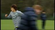 Celtic squad training SCOTLAND Lennoxtown EXT Scott McDonald training Gary Caldwell training Paddy McCourt training Wide shot of training Scott Brown...
