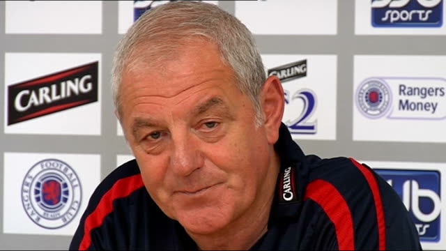 Glasgow Rangers Walter Smith press conference SCOTLAND Glasgow INT Walter Smith press conference SOT Believes having to play games in Europe can have...