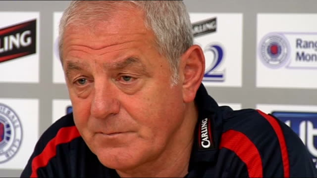 Glasgow Rangers Walter Smith press conference Smith press conference SOT Thinks Motherwell will take confidence from their foray into European...