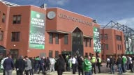 Rangers meet historic rivals Celtic for first time since their financial collapse Fans leaving stadium Celtic fans cheering as along People outside...