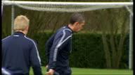 Rangers squad training SCOTLAND Glasgow EXT Walter Smith watching training Ally McCoist watching training Wide shot of training David Weir training...