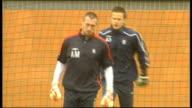 Rangers squad training SCOTLAND Glasgow EXT Allan McGregor training Walter Smith talking to Ally McCoist Pedro Mendes training Closeup of Smith Kris...