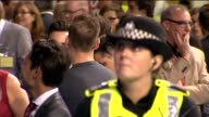 ITV News Special Clean Feed 0300 0400 SCOTLAND Glasgow Marriott Hotel INT GVs people celebrating 'no' majority announcement in unidentified seat/...