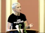 Scottish singer Annie Lennox has won the 2009 Woman of Peace award at a summit of Nobel Peace Laureates in Berlin for her work raising awareness of...