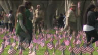 KTLA Scouts Place Flags On Vets' Graves At LA National Cemetery