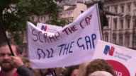 Scrap the cap' protest outside the Houses of Parliament regarding the public sector wage cap