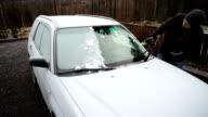 Scraping frozen windows