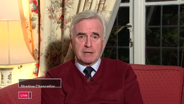 FCA scraps investigation into culture and pay of bankers ENGLAND London INT John McDonnell MP LIVE interview ex West London on the scrapping of the...