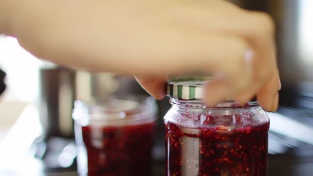 Screwing Lid onto Homemade Jam