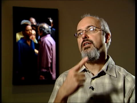 New video installation Bill Viola as interview SOT Talks of people spending on average 10 seconds in front of painting / talks of the main subject of...