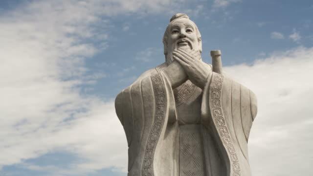Sculpture of Confucius, time lapse