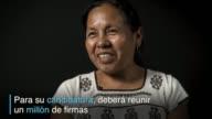 Se llama Maria de Jesus Patricio tiene 53 anos y aspira a convertirse en la primera mujer aborigen en Mexico en competir en las proximas elecciones...