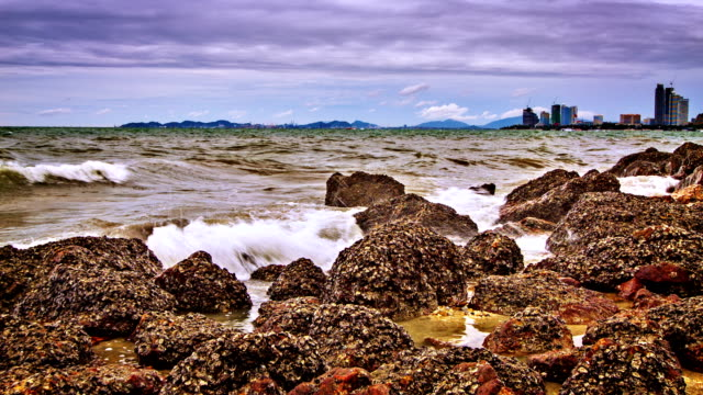 Sea and remote city