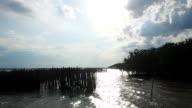 Sea and sun in estuary