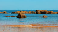 Sea beach with rocks