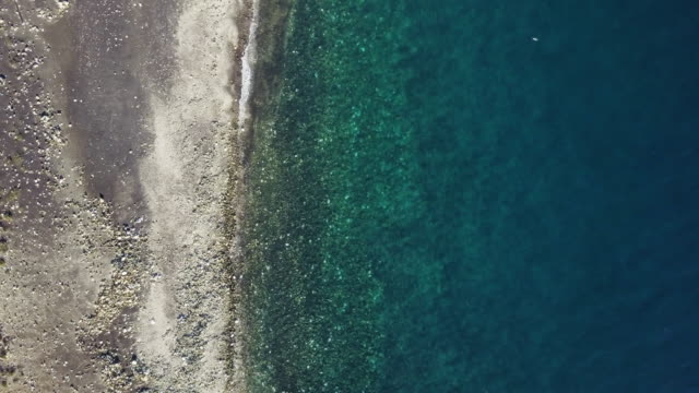 Sea coastline from drone point of view