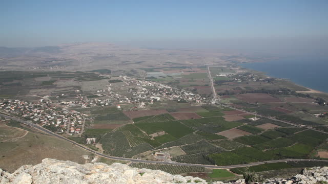 Sea of Galilee, general view of the Sea of Galilee from the Arbel cliffs