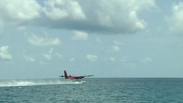 Sea Plane take off Male Maldives
