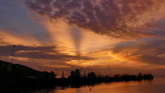 Sea tide in sunset light