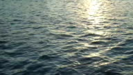 Sea water background with sun light reflection
