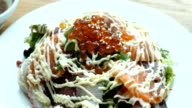 Seafood sashimi salad